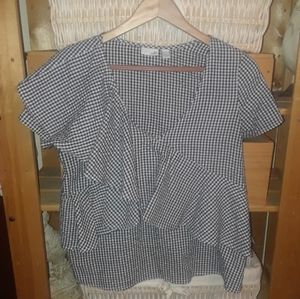 14th and union gingham ruffle shirt